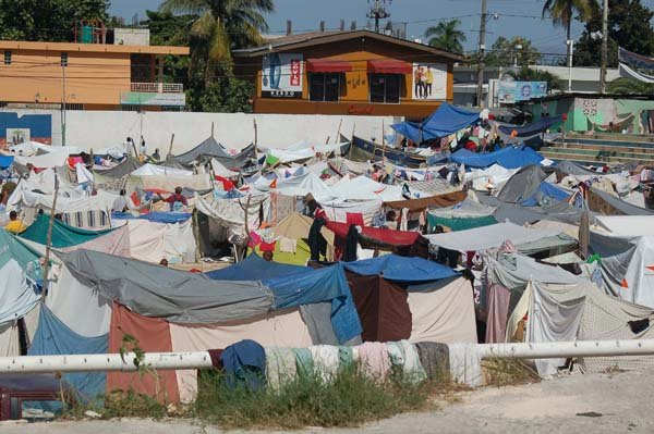 Tent City On The St Therese Soccer Field In Petionville Haiti
